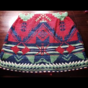 Ralph Lauren Southwestern Wrap Skirt 8-10 Girls